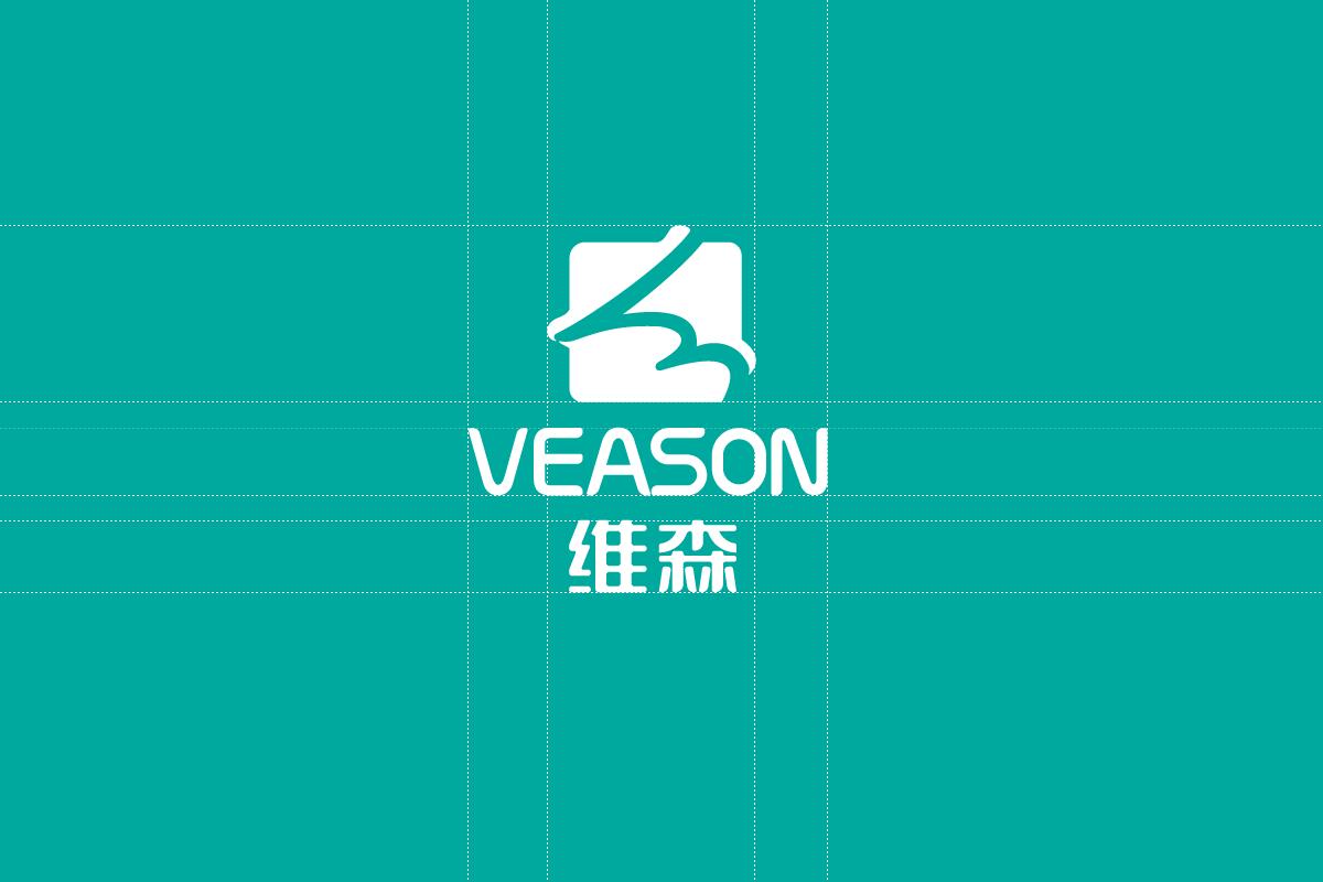 维森logo反白设计