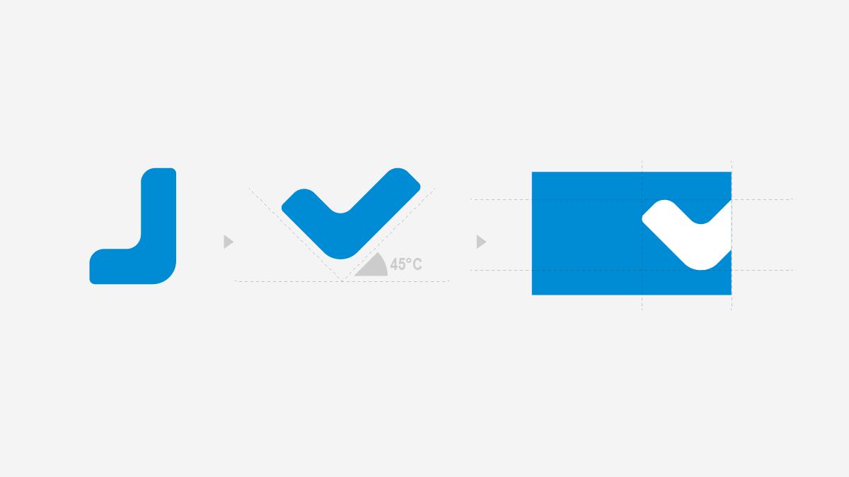 简智达logo辅助图形设计