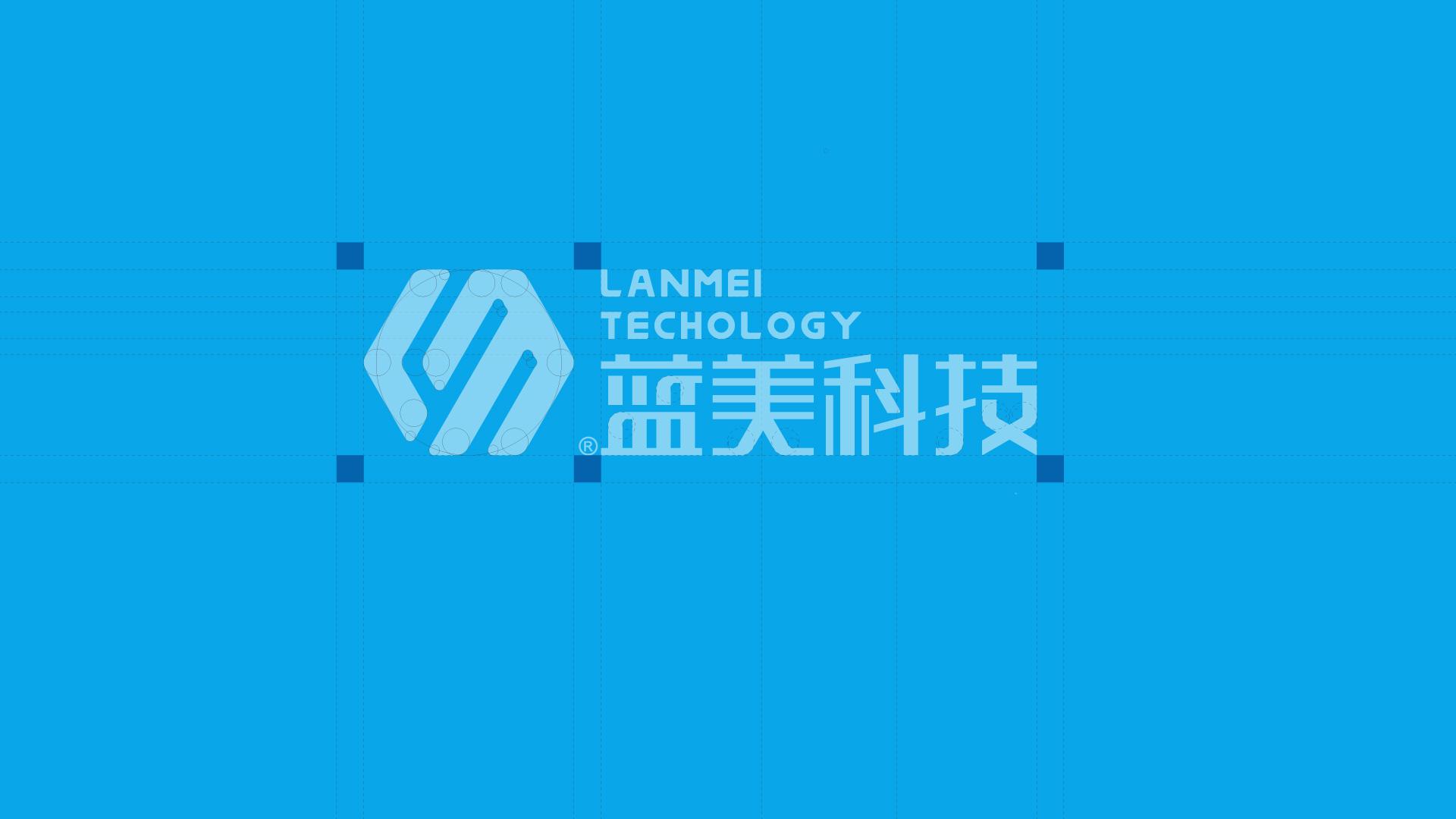蓝美logo标准制图