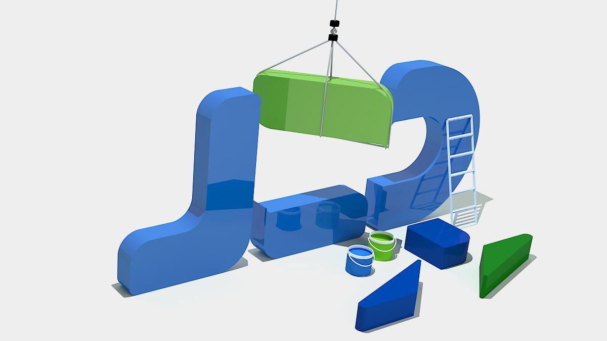 简智达标志3d设计