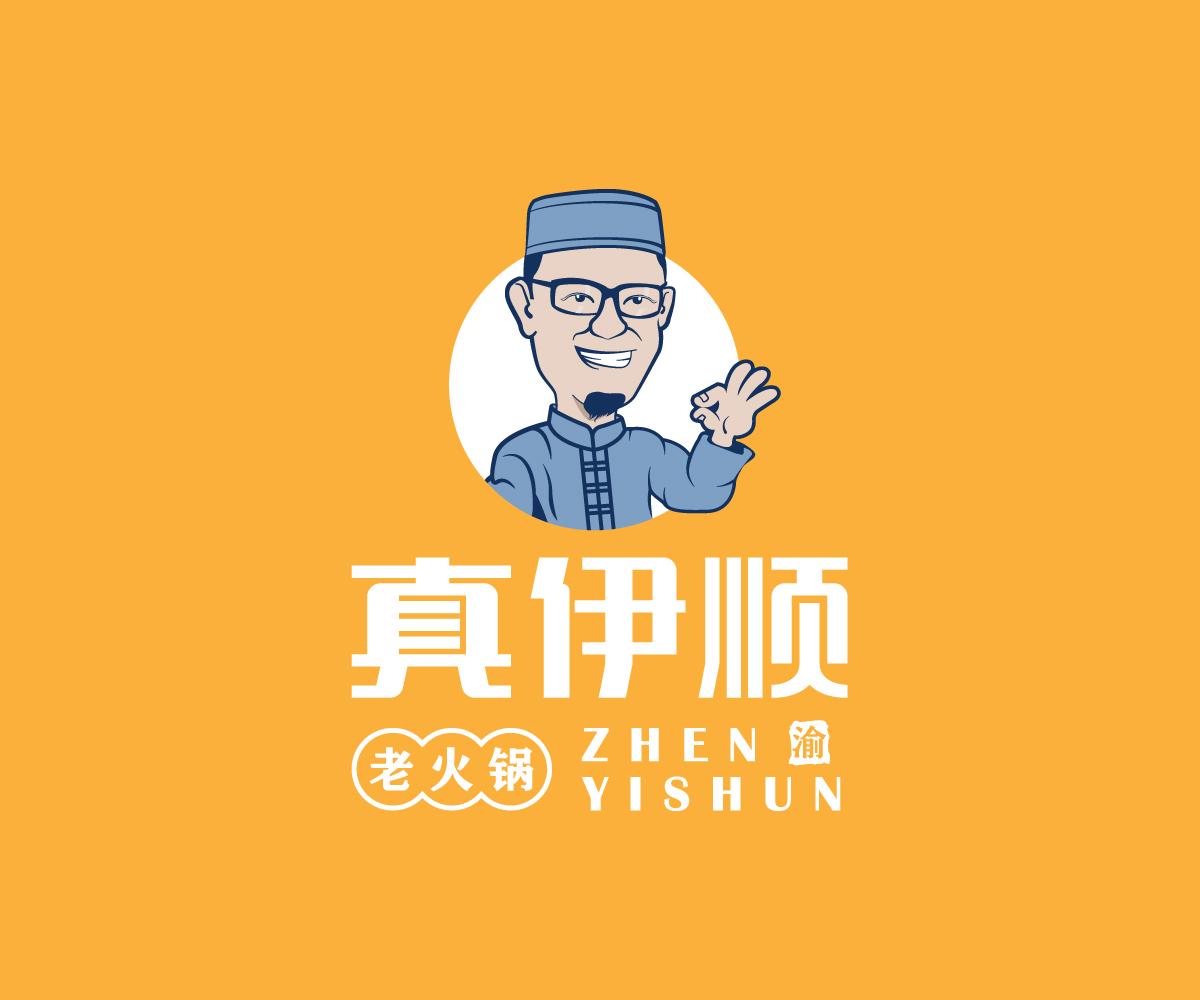 真伊顺卡通logo设计提案