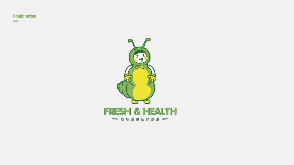 水果箱吉祥物包装设计
