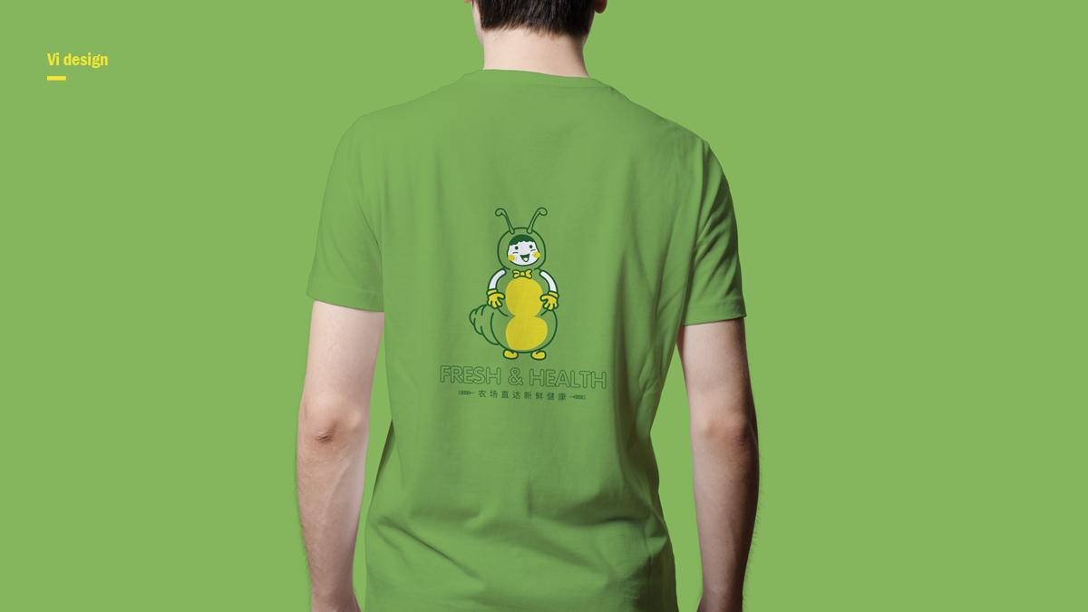 卡通vi吉祥物t恤设计