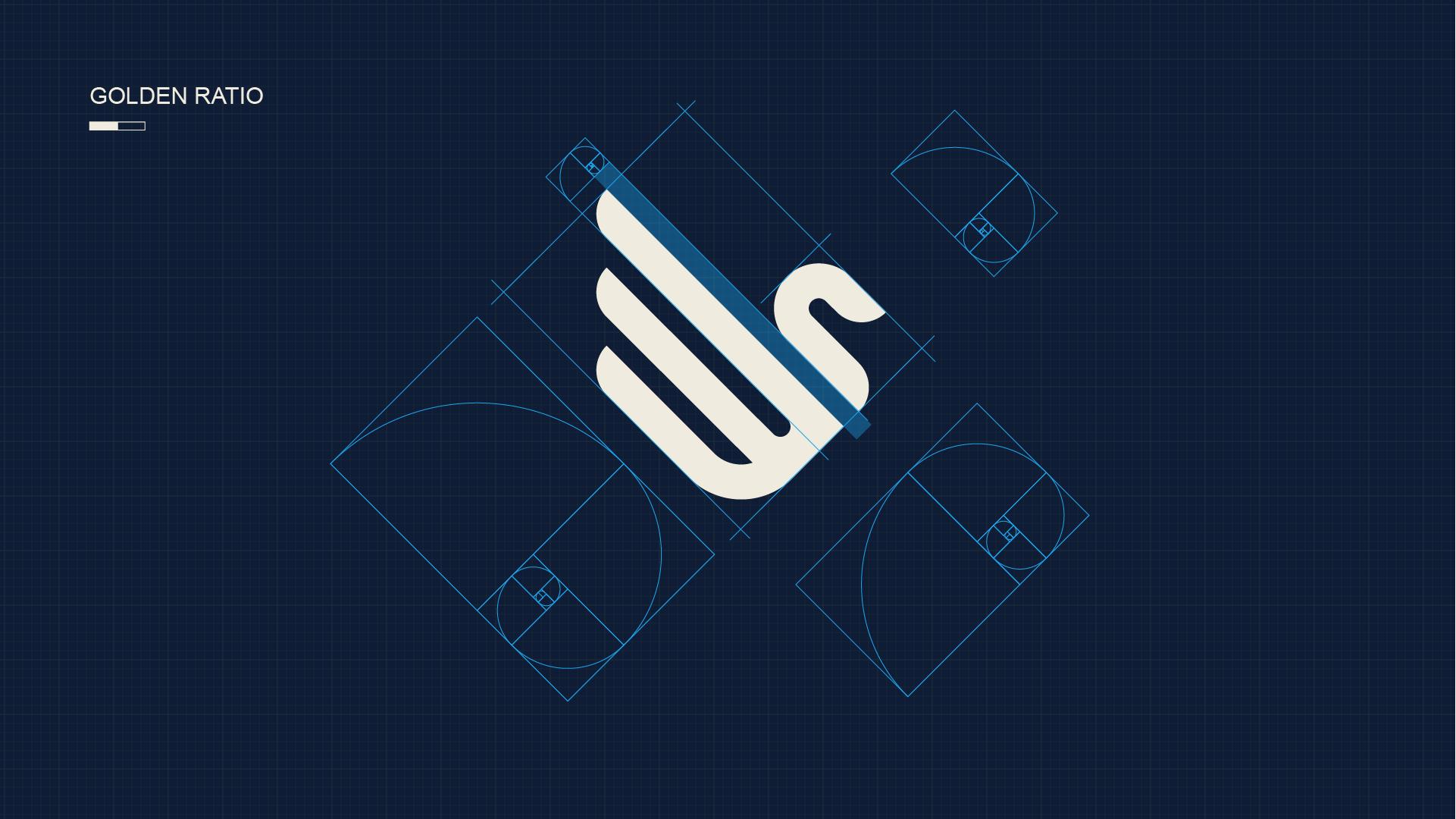 logo设计黄金比例制图